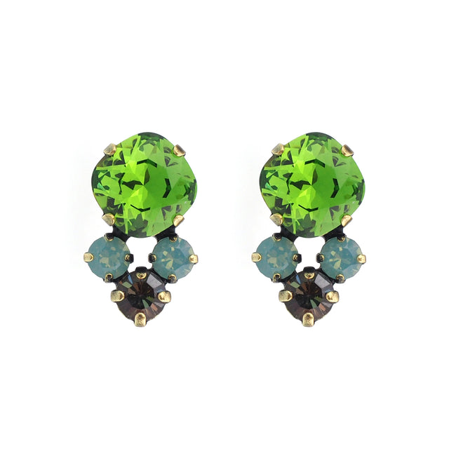 Cosmic Kiss Studs - Fern Green