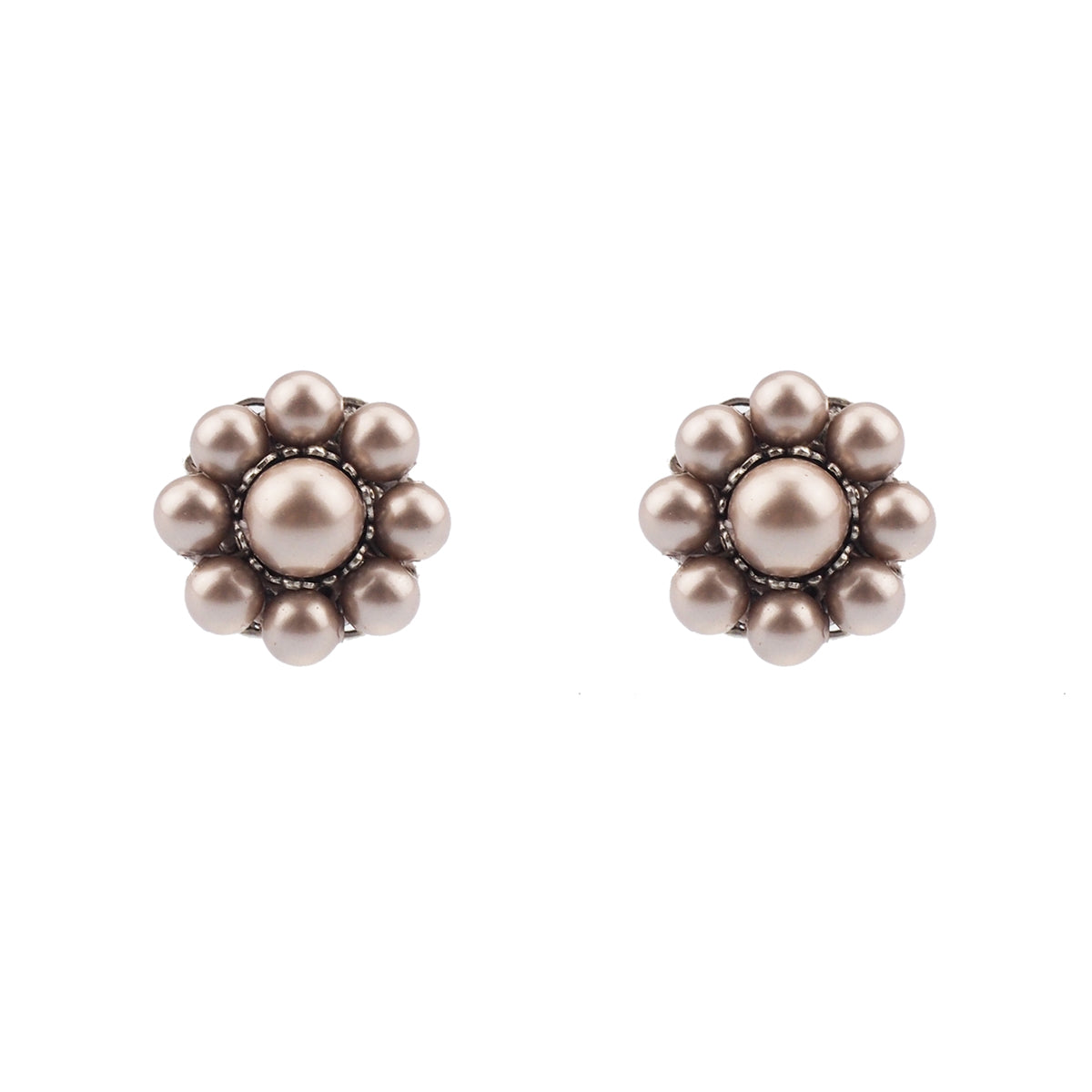 Embrace Studs - Powder Almond