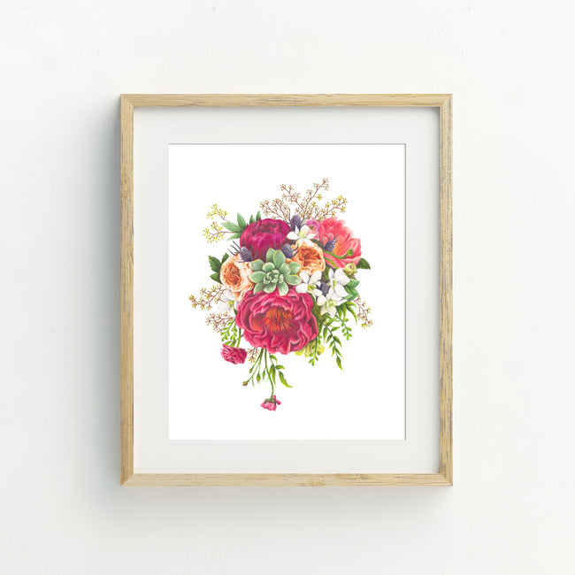 A4 Floral Frenzy Print