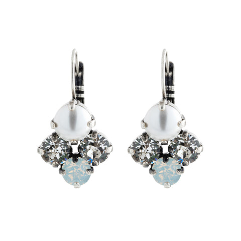 Lotus Earring - White Opal