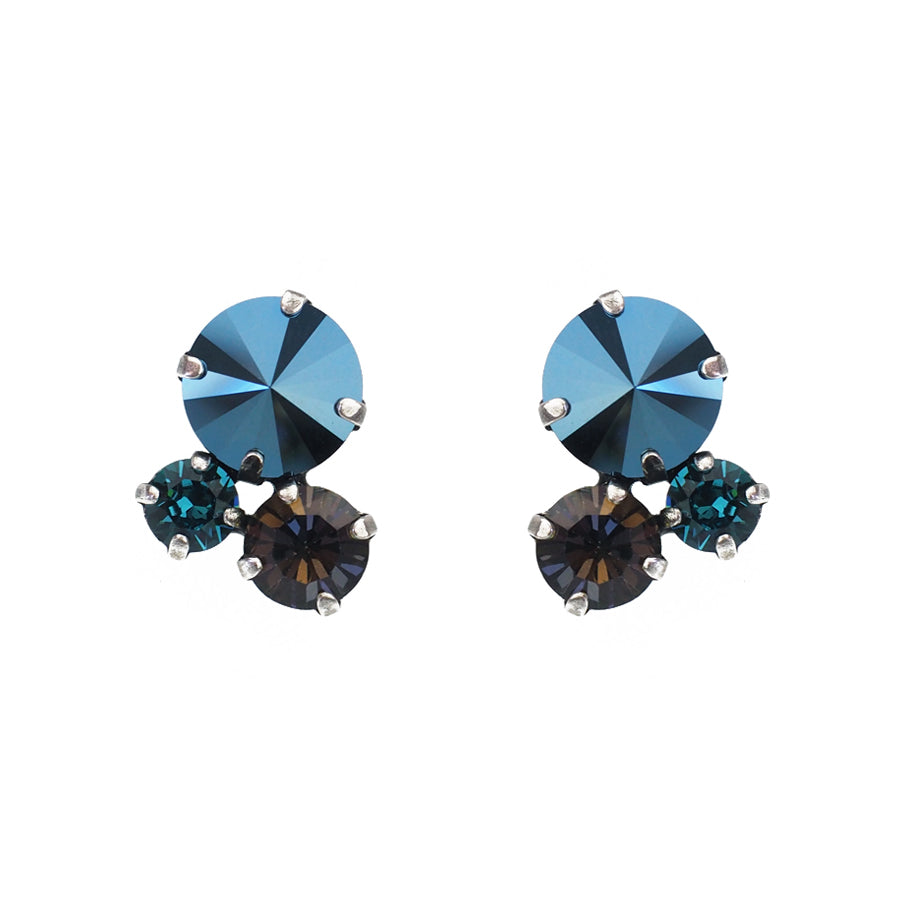 Guardian Studs - Metallic Blue