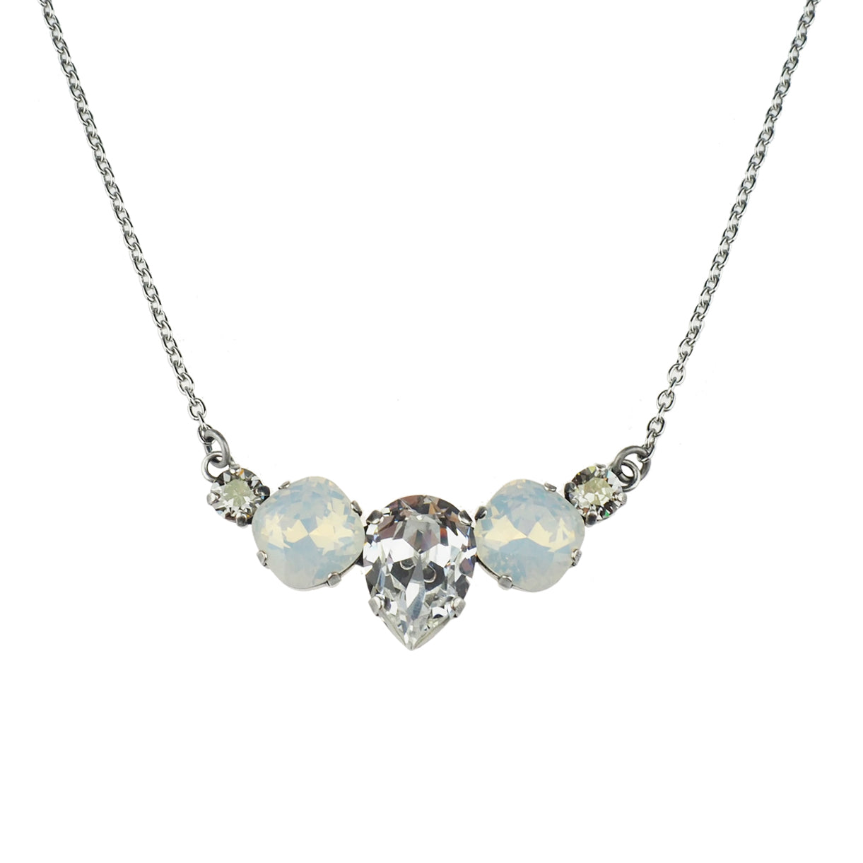 Hearts and Wishes Necklace - White Opal