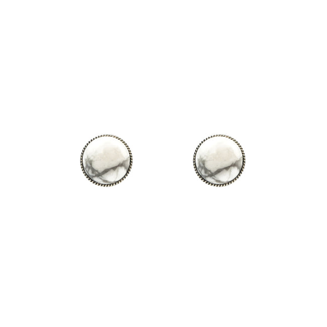 Heirloom Studs - White Howlite