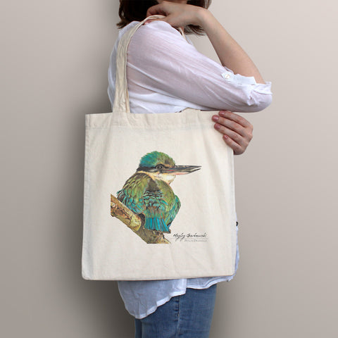 Twin Compartment Purse - Green Watercolour