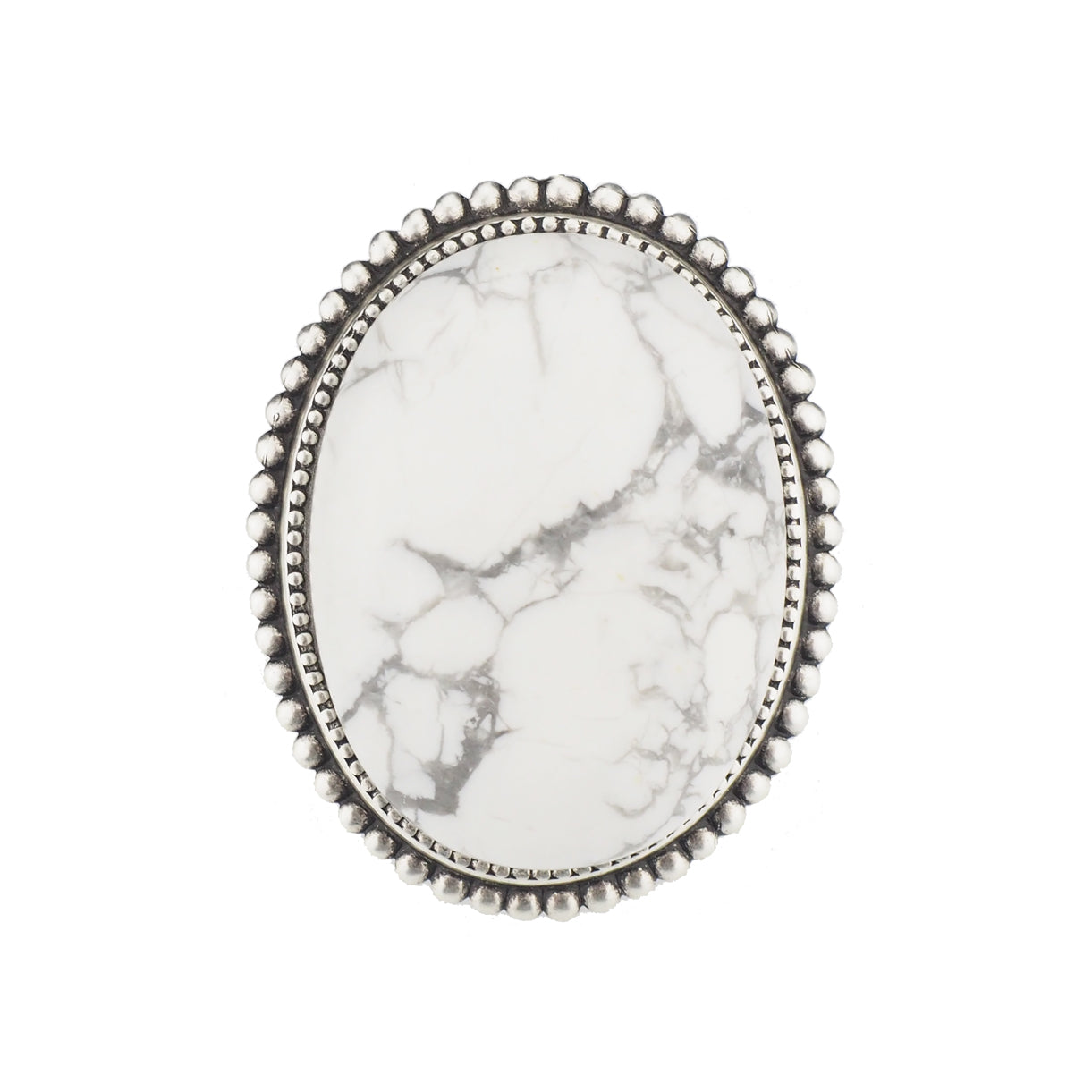 Legend Ring - White Howlite