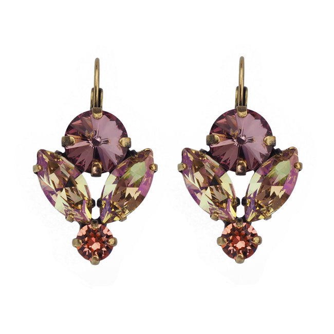 Lotus Earring - Antique Pink