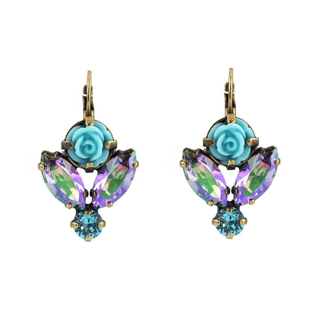 antonella turquoise drop beauty with youtube leverback sleeping gold watch earrings nester