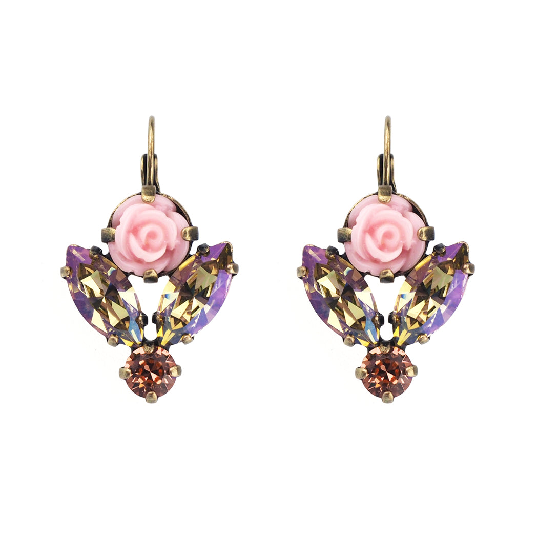 Blooming Beauty Earrings - Peach