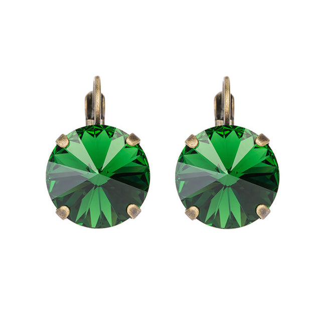 Bliss Earrings - Dark Moss Green