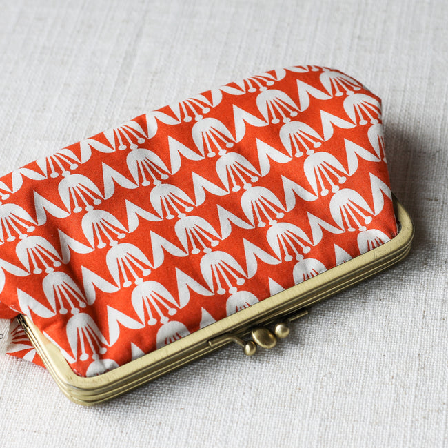 Twin Compartment Purse - Orange