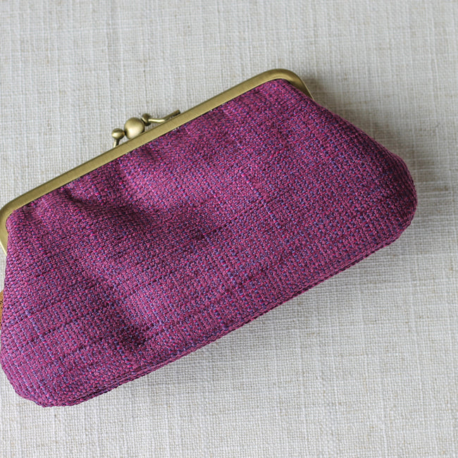 Twin Compartment Purse - Purple