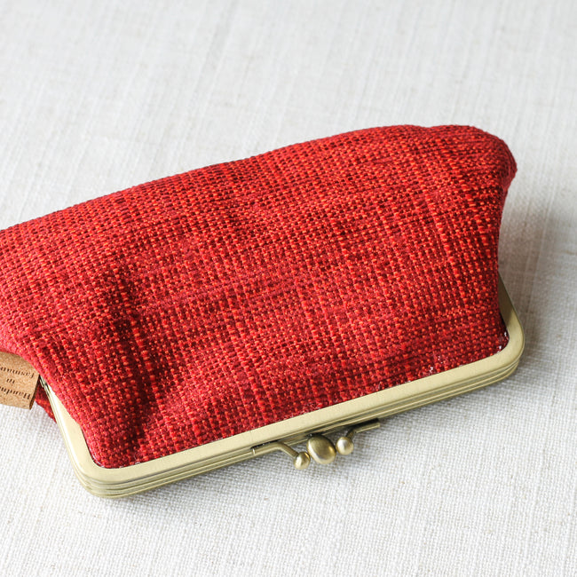 Twin Compartment Purse - Rust Red