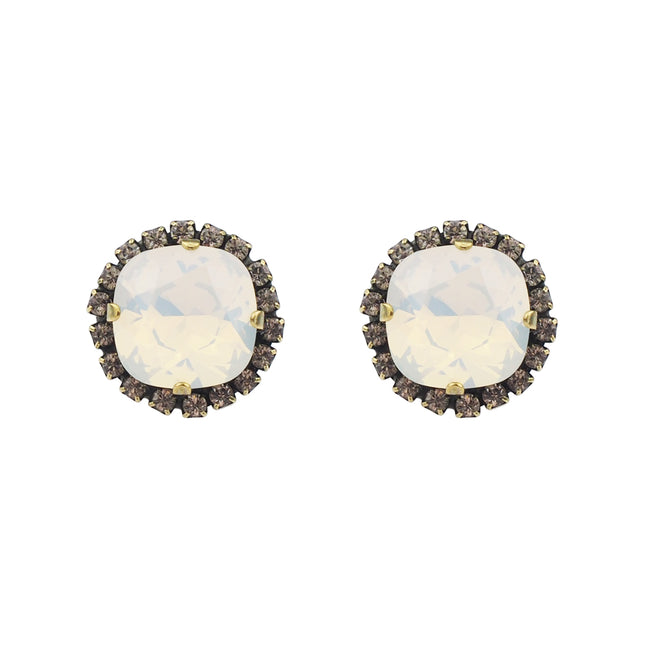 Radiance Studs - White Opal