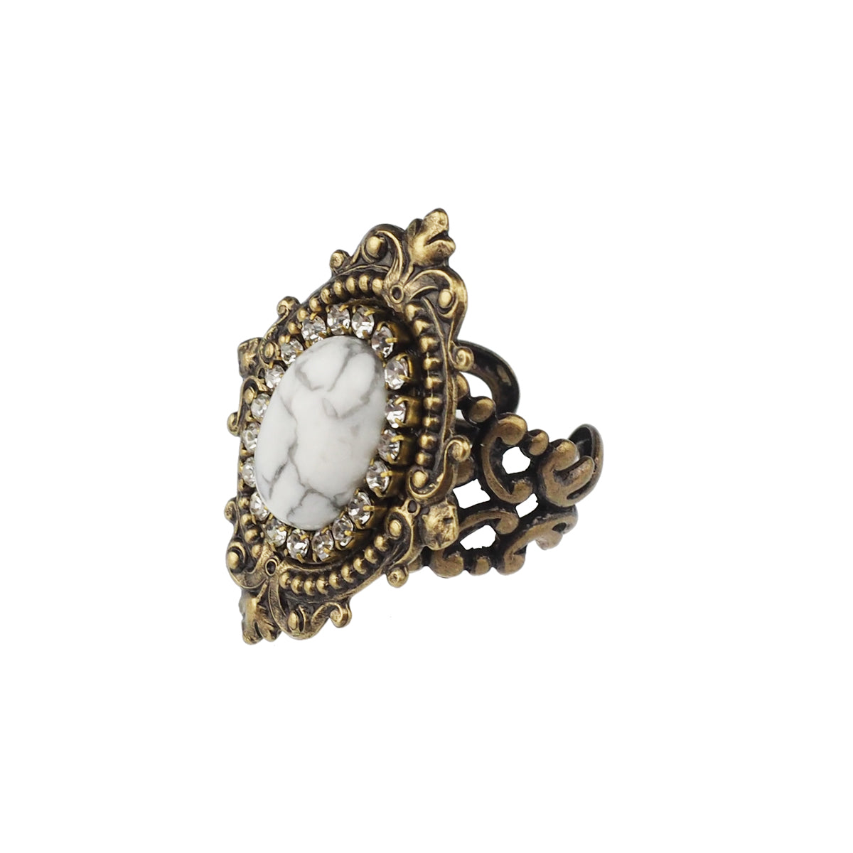 Reminiscence Ring - White Howlite