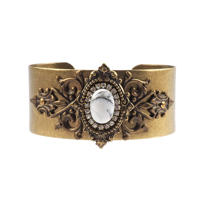 Reminiscence Cuff - White Howlite