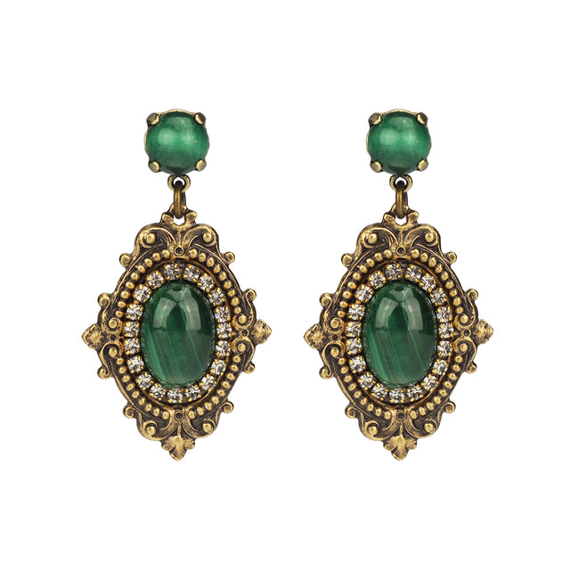 Reminiscence Earring - Malachite