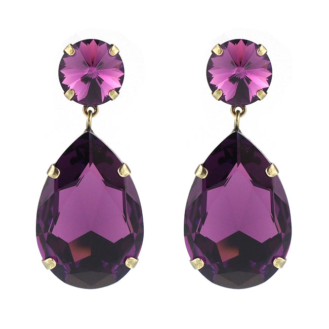 Starstruck Earrings - Amethyst