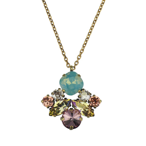 Cosmic Kiss Necklace - Fern Green