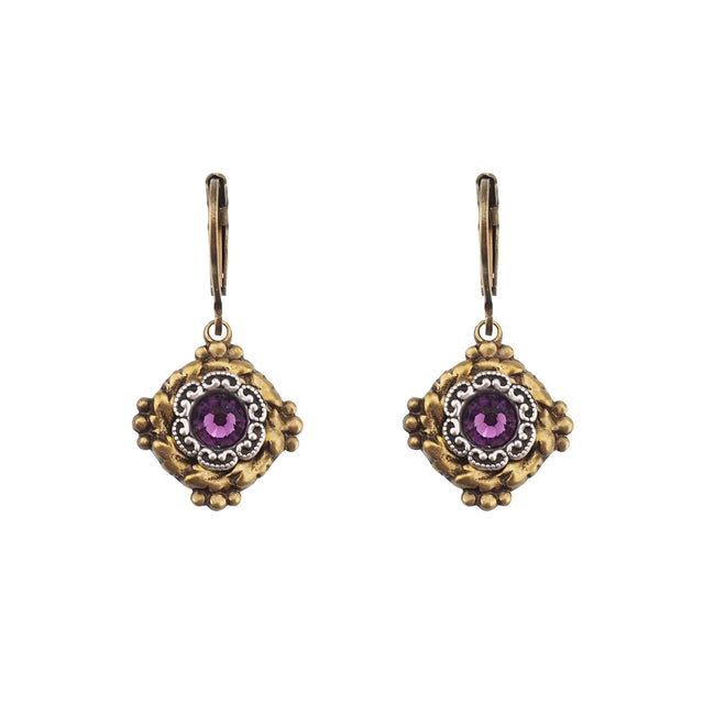 Vintage Vibes Earrings - Amethyst