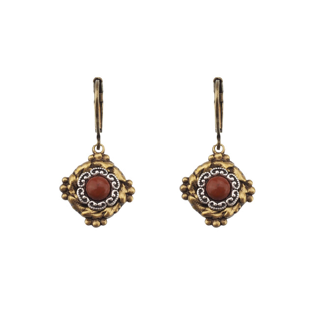 Vintage Vibes Earrings - Red Jasper