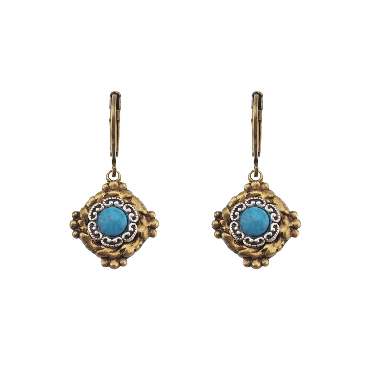 Vintage Vibes Earrings - Turquoise