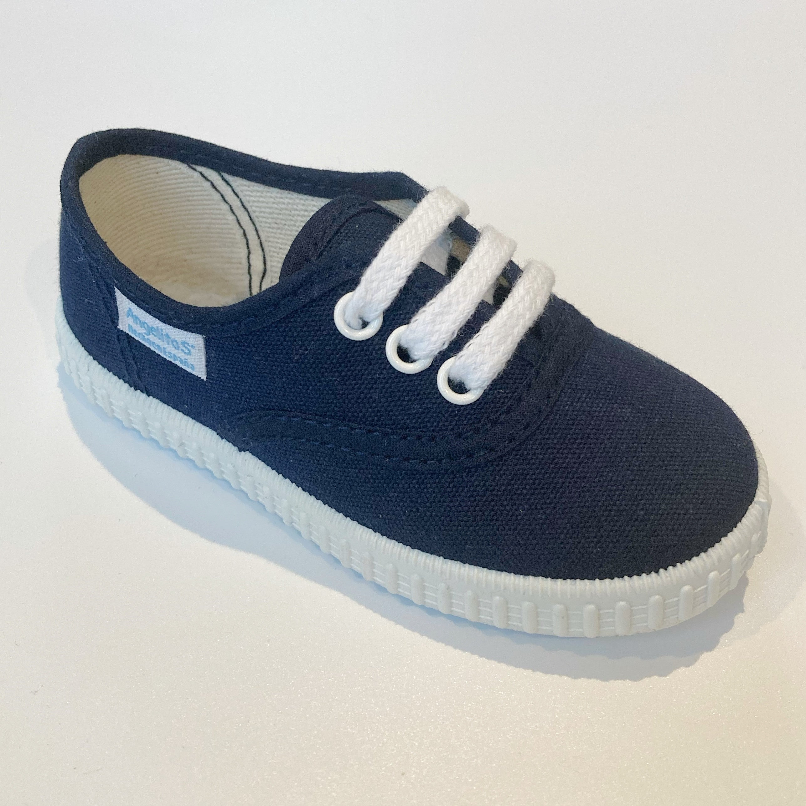 Angelitos Lace up Canvas Shoes - Navy