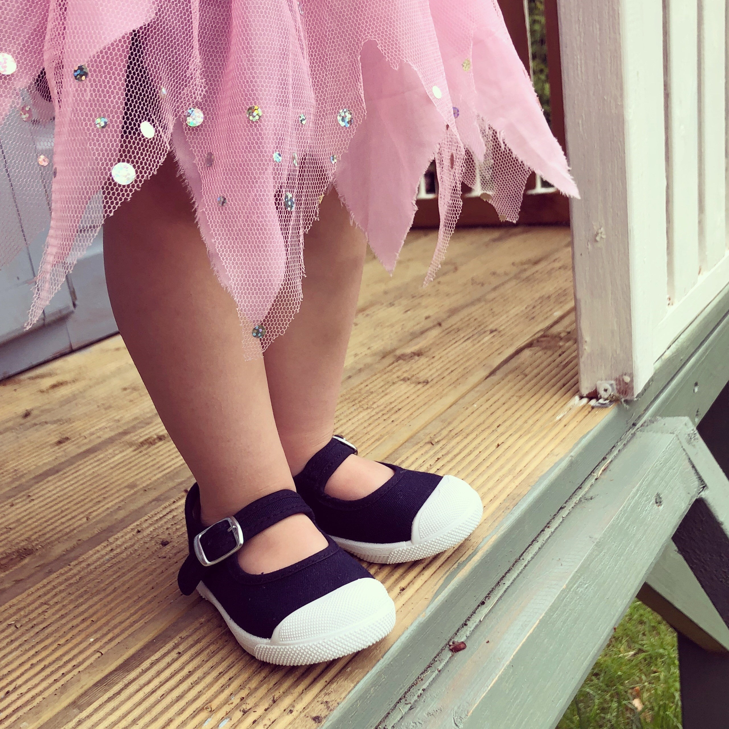 Angelitos Mary Jane Shoes - Navy