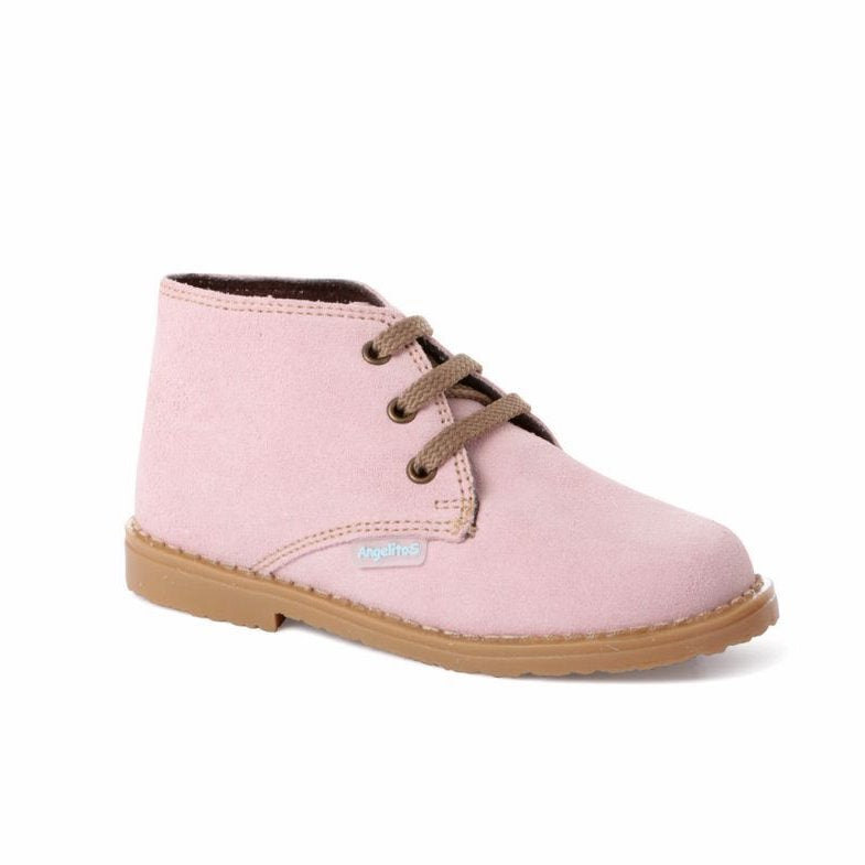 Angelitos Boots - Angelitos Lace up Desert Boots - Pink