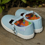 Load image into Gallery viewer, Angelitos T Bar Canvas Shoes - Light Blue