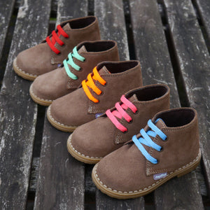 Angelitos Boots - Angelitos Lace up Desert Boots - Tan