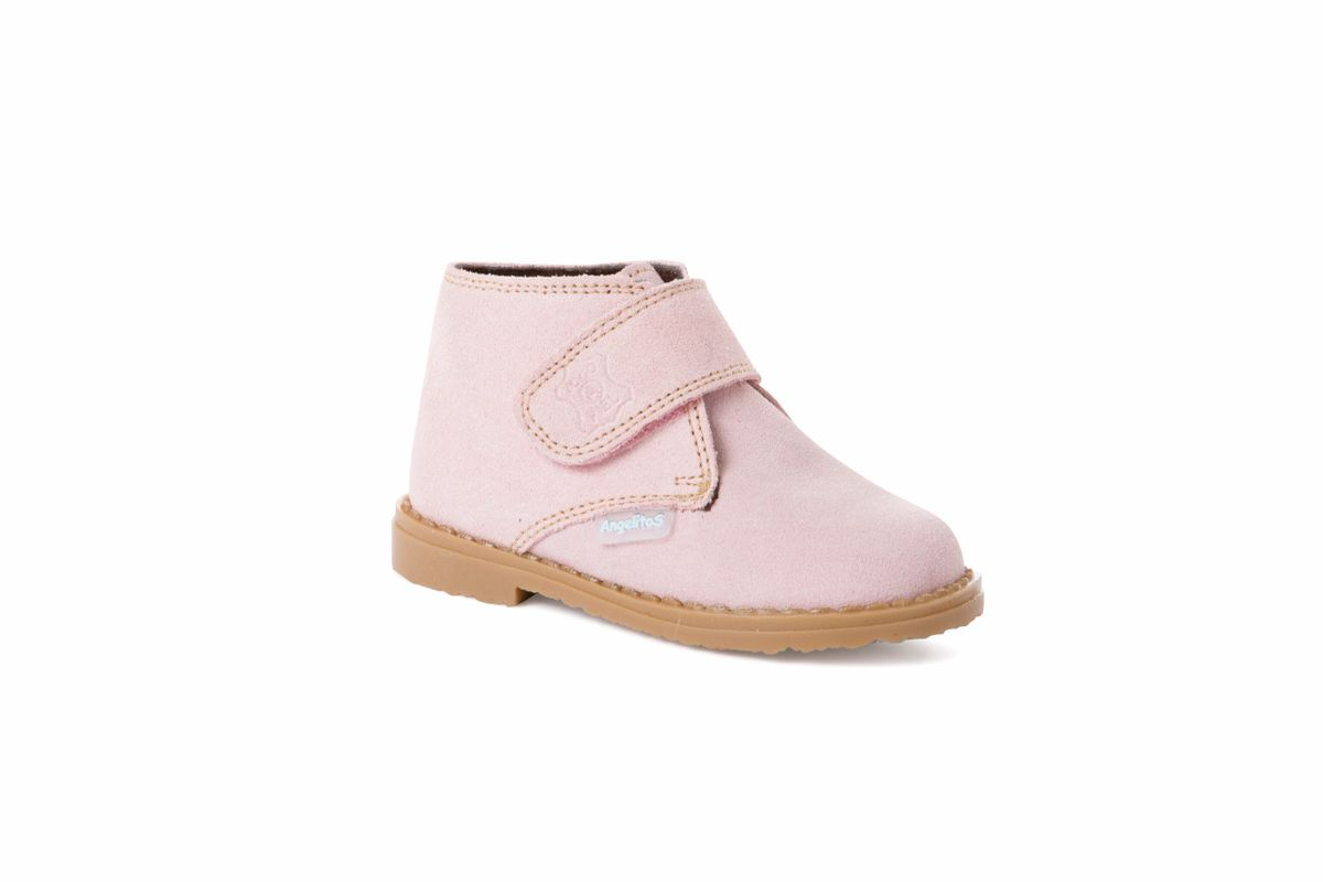 Angelitos Boots - Angelitos Velcro Desert Boots - Pink
