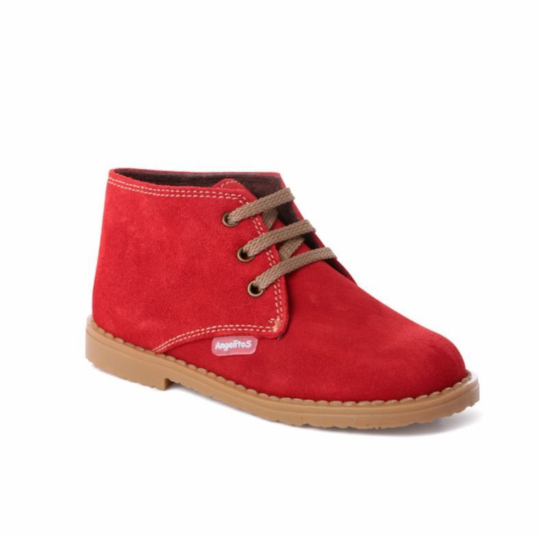 Angelitos Boots - Angelitos Lace up Desert Boots - Red