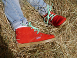 Load image into Gallery viewer, Angelitos Boots - Angelitos Lace up Desert Boots - Red