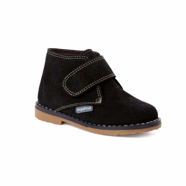 Angelitos Boots - Angelitos Velcro Desert Boots - Navy