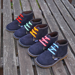 Angelitos Boots - Angelitos Lace up Desert Boots - Navy