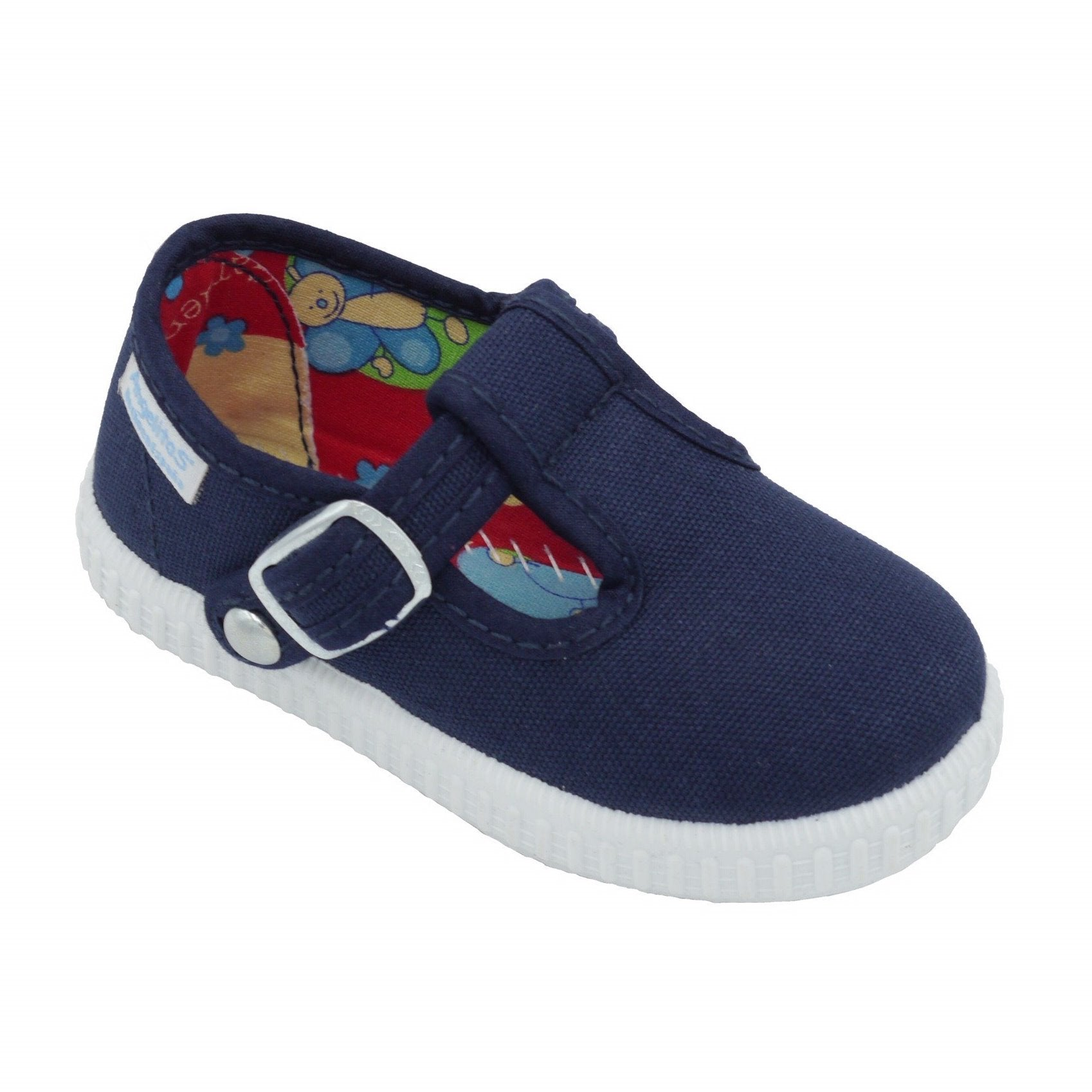 Angelitos T Bar Canvas Shoes - Navy