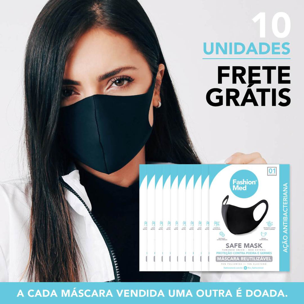 KIT 10 UNIDADES - SAFE MASK
