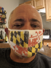Load image into Gallery viewer, Faded Maryland Flag Face Mask (Price includes Shipping and Handling!)