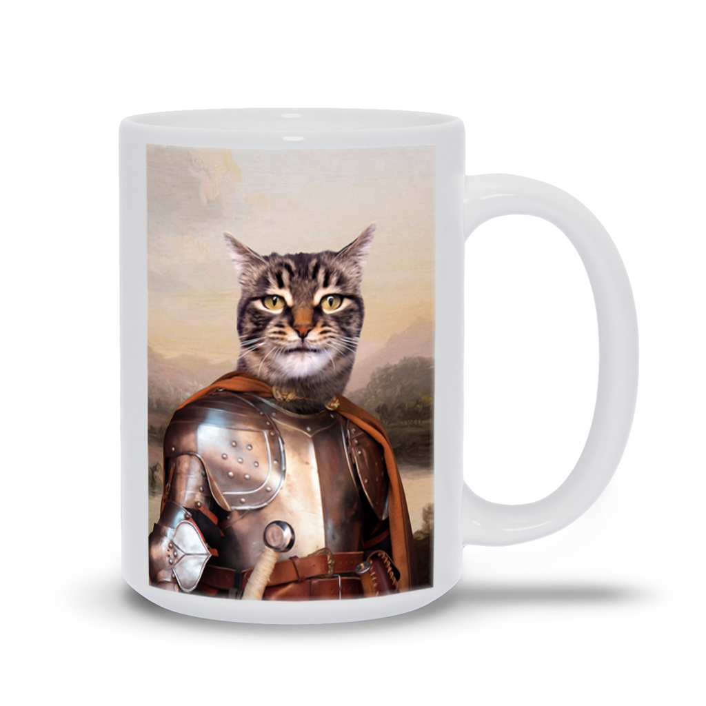 KNIGHT IN BROWN SATIN COFFEE MUG (15oz)