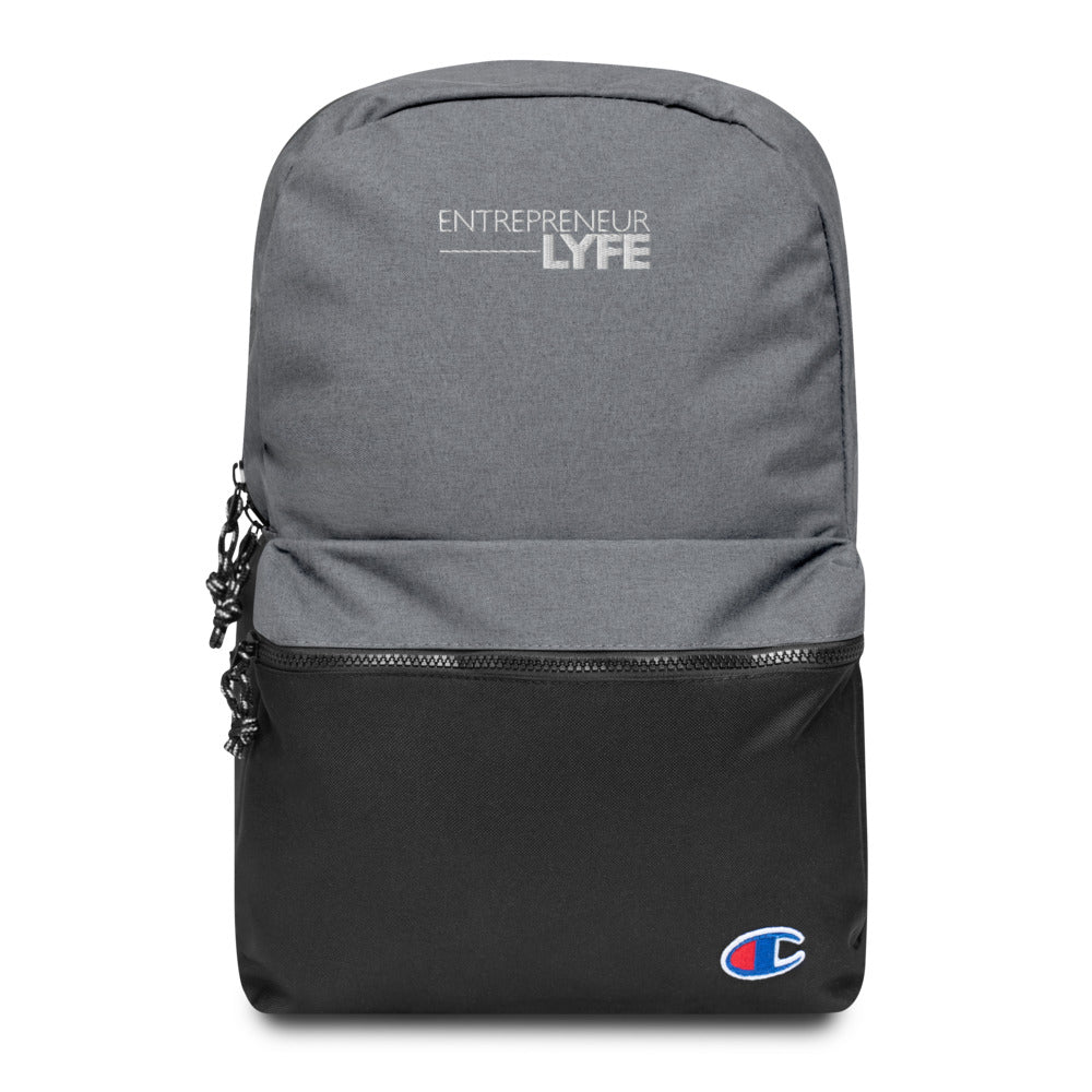 EntreLyfe Brand - Embroidered Champion Backpack