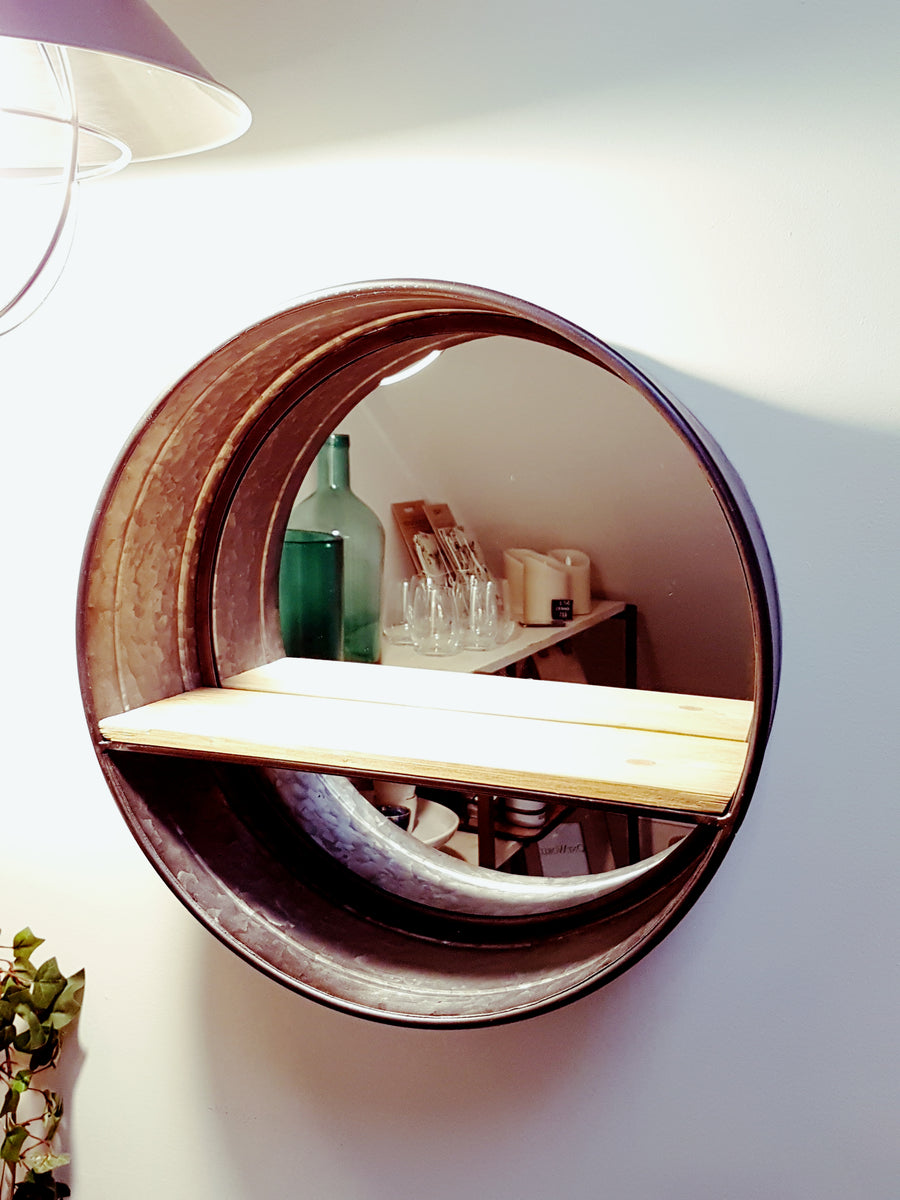 Smaller mirror with shelf