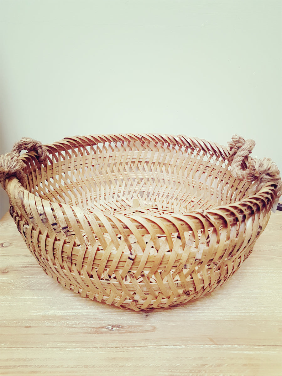 Beautifully crafted rattan basket