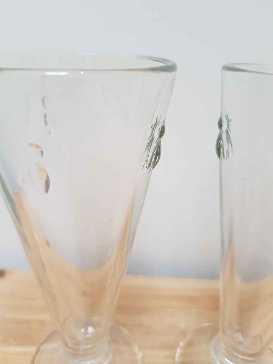 French Bee Champagne Glasses