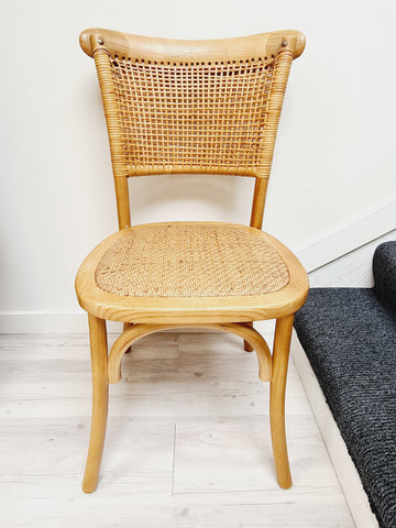 Rattan Weave Oak Chair