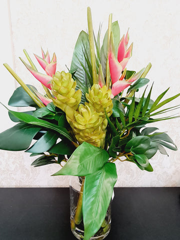 Artifical Tropical Heliconia Mix