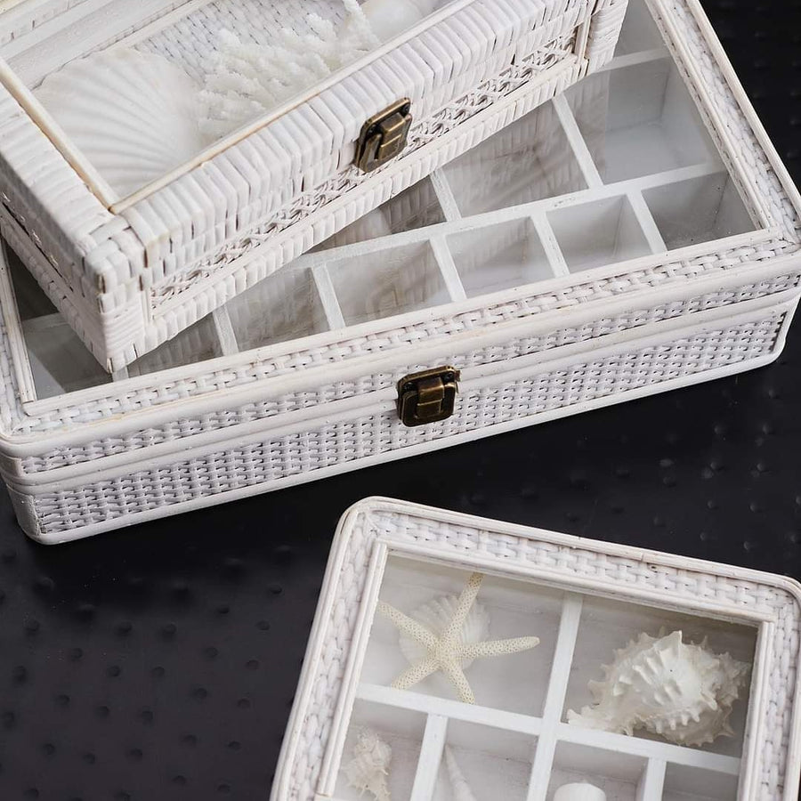 French Country Rattan Jewellery Box