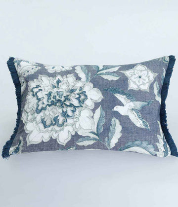 MM Linen Blue Katiana Cushion