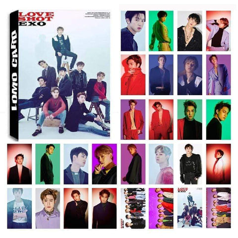 Kpop Merchandise Online Photocards 30 Piece Set EXO Love Shot Photocard Set
