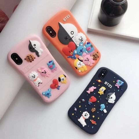 Official Kpop Merchandise Online 🥇 Photocards 3D BT21 iPhone Case
