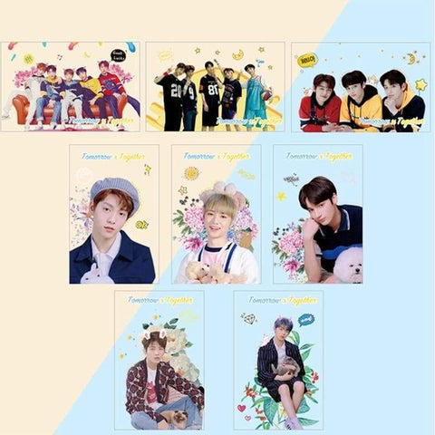 Kpop Merchandise Online Phone Case 8 Piece TxT Photocards